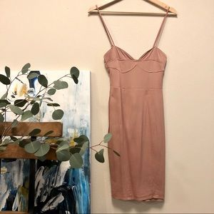 H&M blush bustier dress